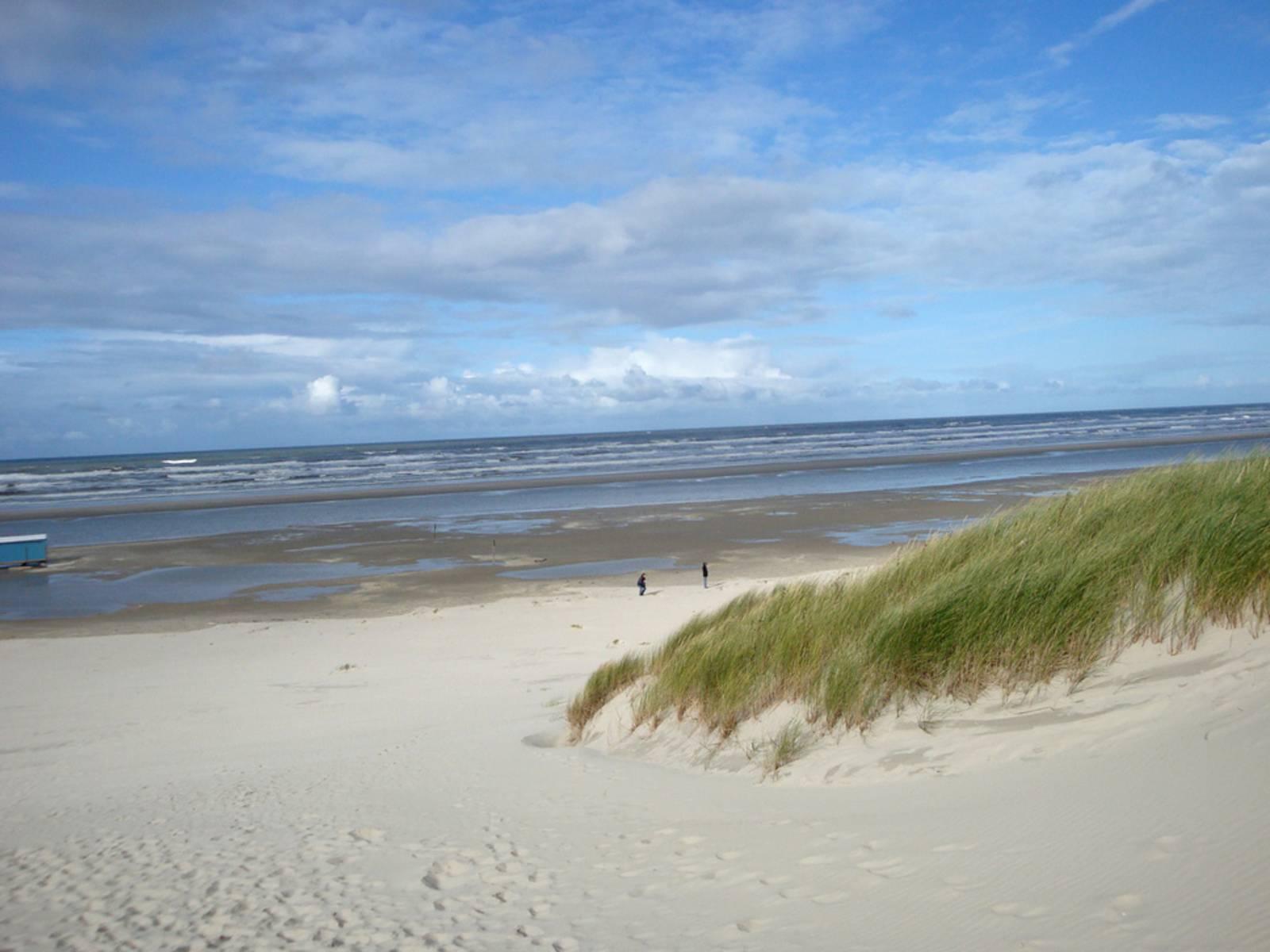 Am Strand von Juist im September