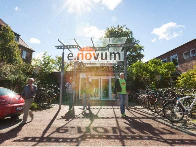 Der Eingang zum e.novum-Coworking-Space in Lüneburg.