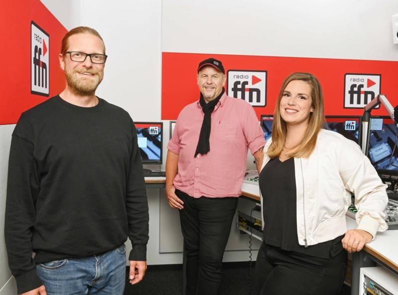 """""""Morgenmän Franky"""" und sein Morningshow-Team von Radio ffn."""