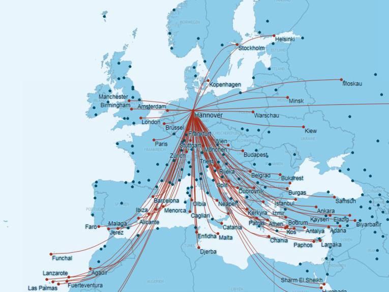 Hannover Airport - Strecken