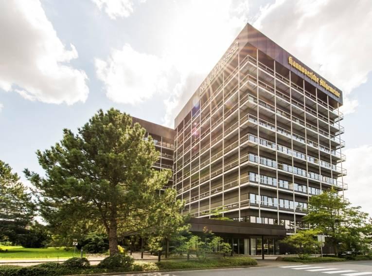 Gebäude Madsack Mediengruppe mit HAZ und NP in Hannover.