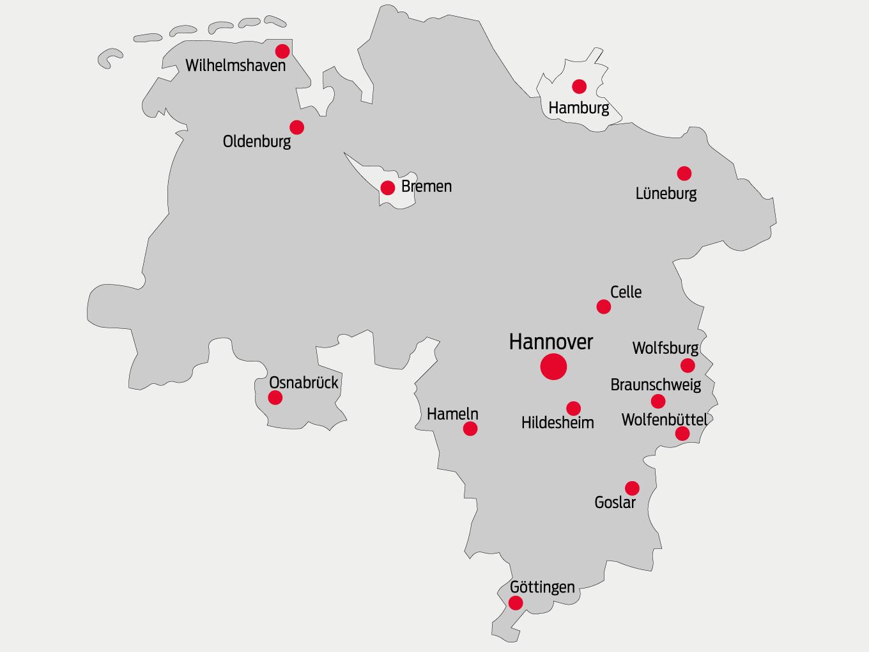 Hannover - zentral gelegen in Niedersachsen