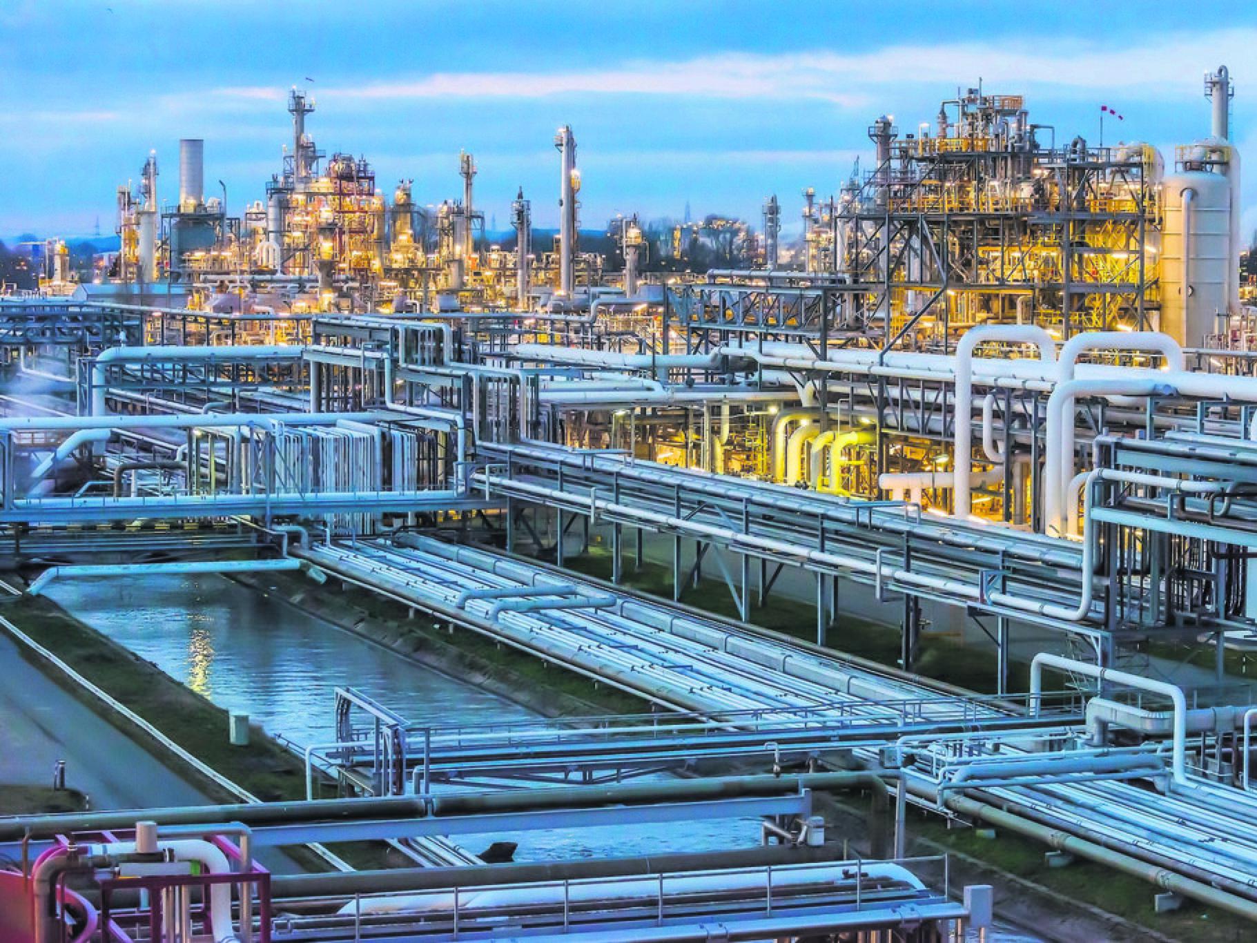 Dow Chemical-Werk in Stade